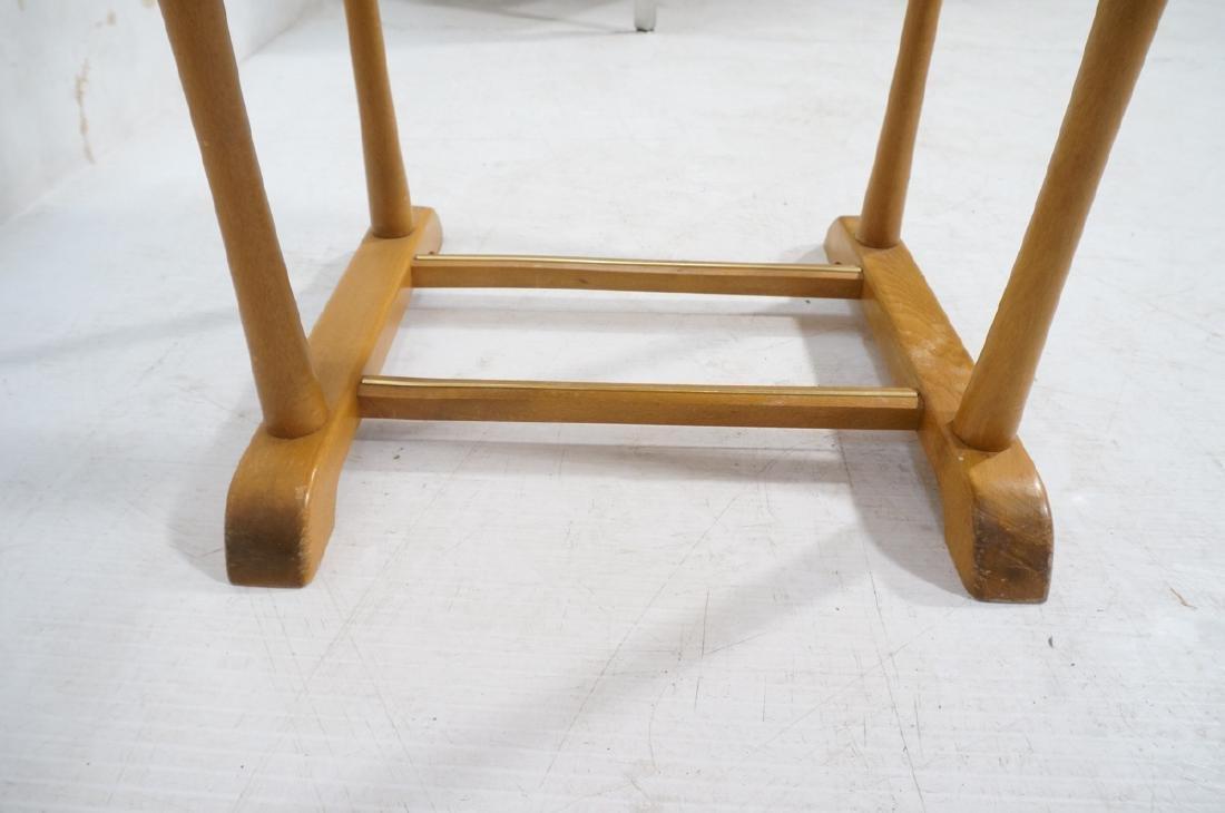 Modern Italian SPQR Wood Valet. Woven seat above - 10