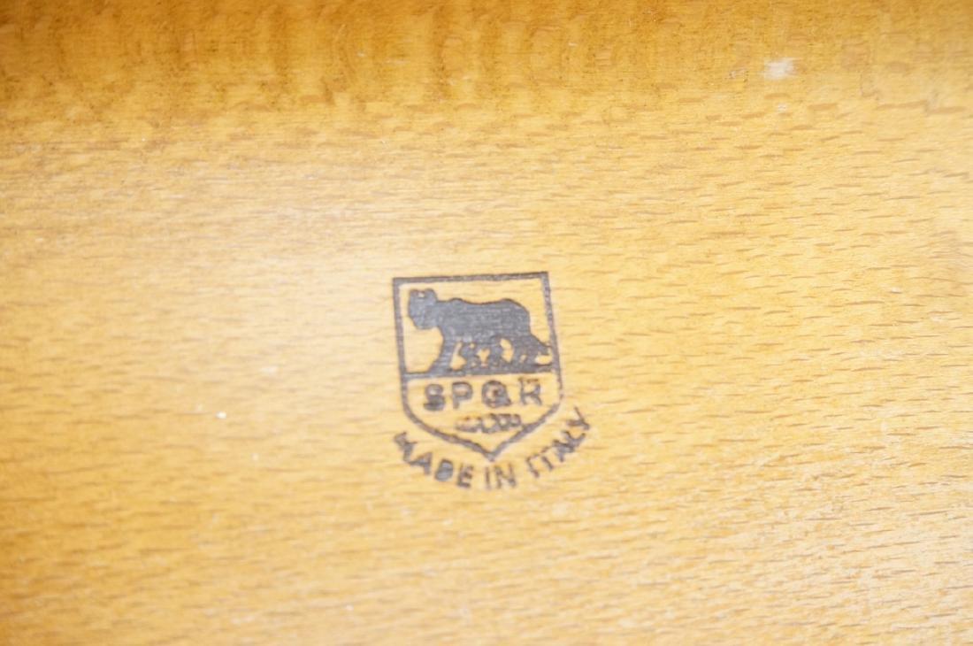 Modern Italian SPQR Wood Valet. Woven seat above - 2