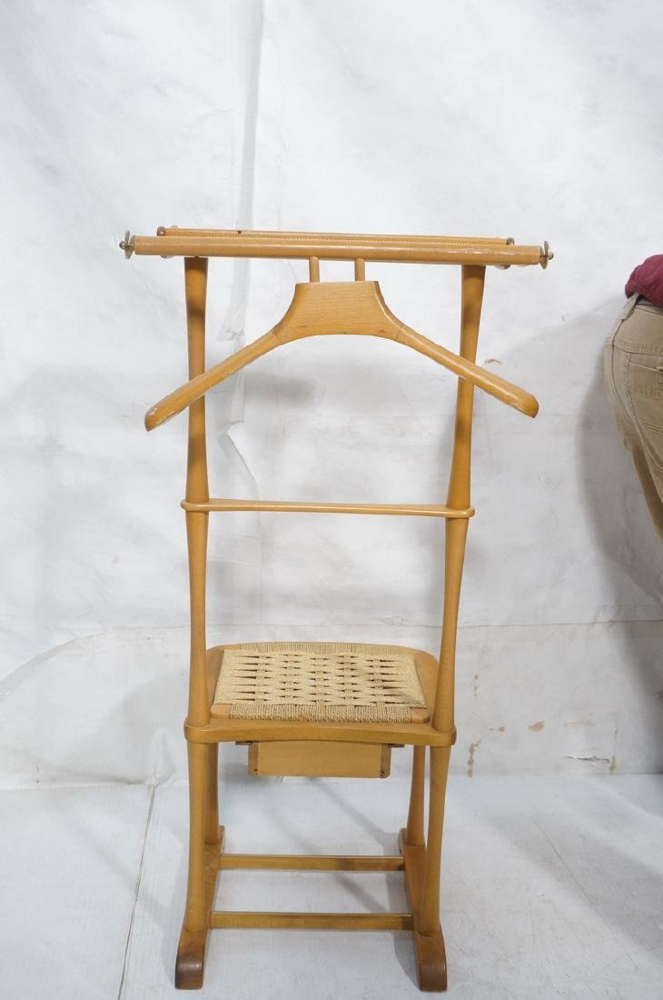 Modern Italian SPQR Wood Valet. Woven seat above - 5