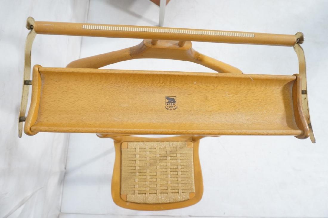 Modern Italian SPQR Wood Valet. Woven seat above - 7