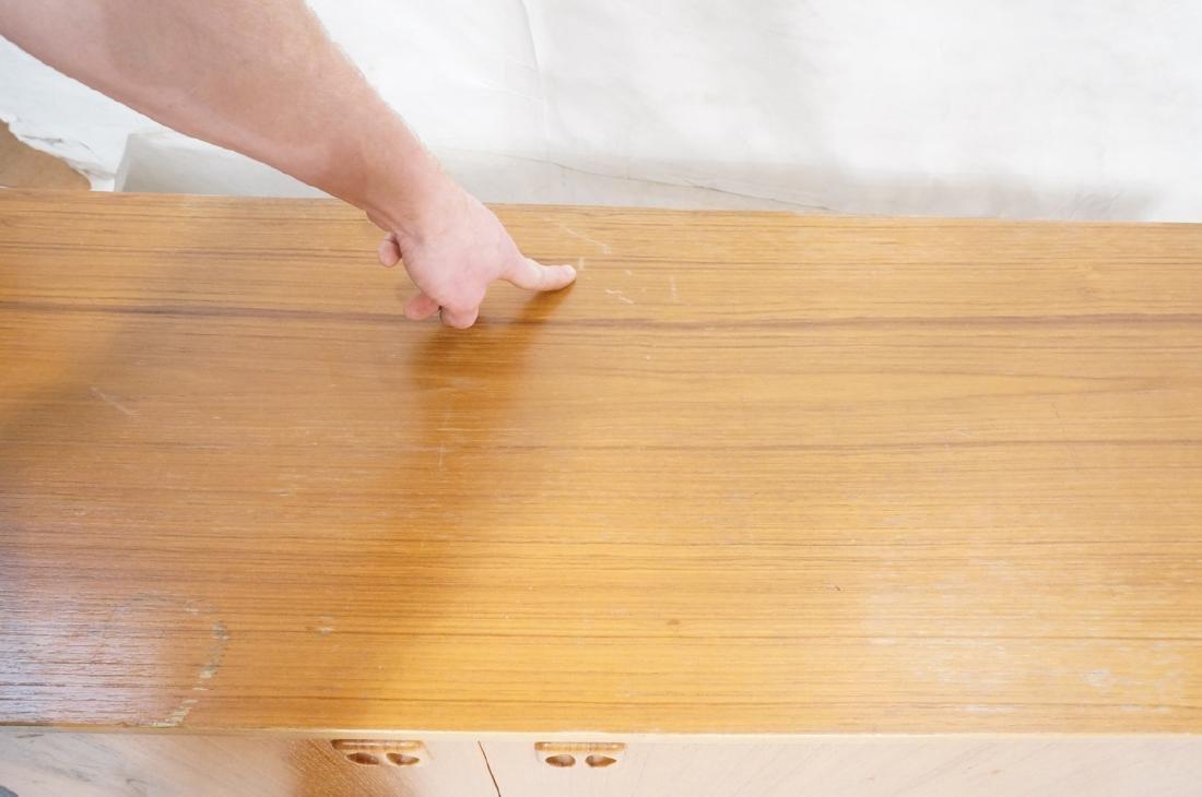 Teak Danish Modern Credenza Sideboard. Raised on - 10