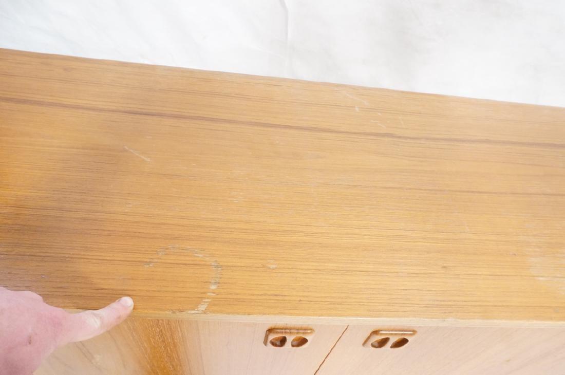Teak Danish Modern Credenza Sideboard. Raised on - 9