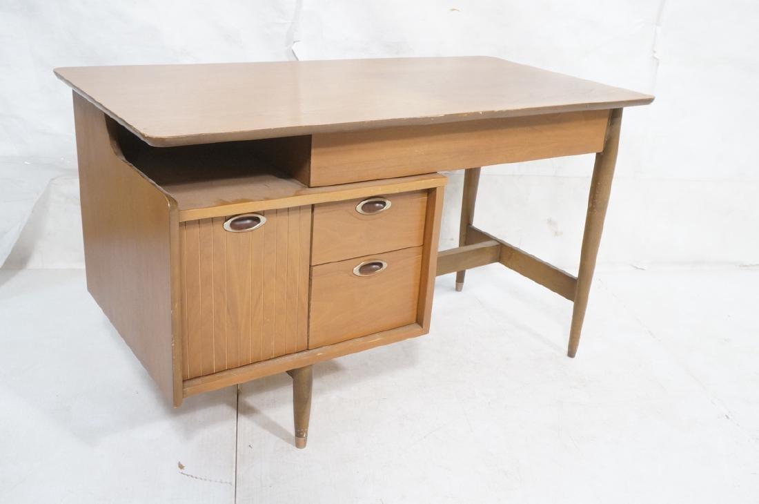 American Modern MAINLINE HOOKER Walnut Desk. Rece