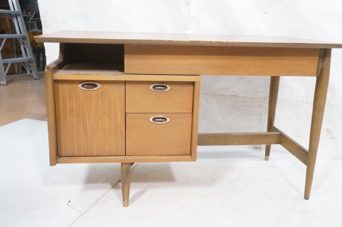 American Modern MAINLINE HOOKER Walnut Desk. Rece - 2