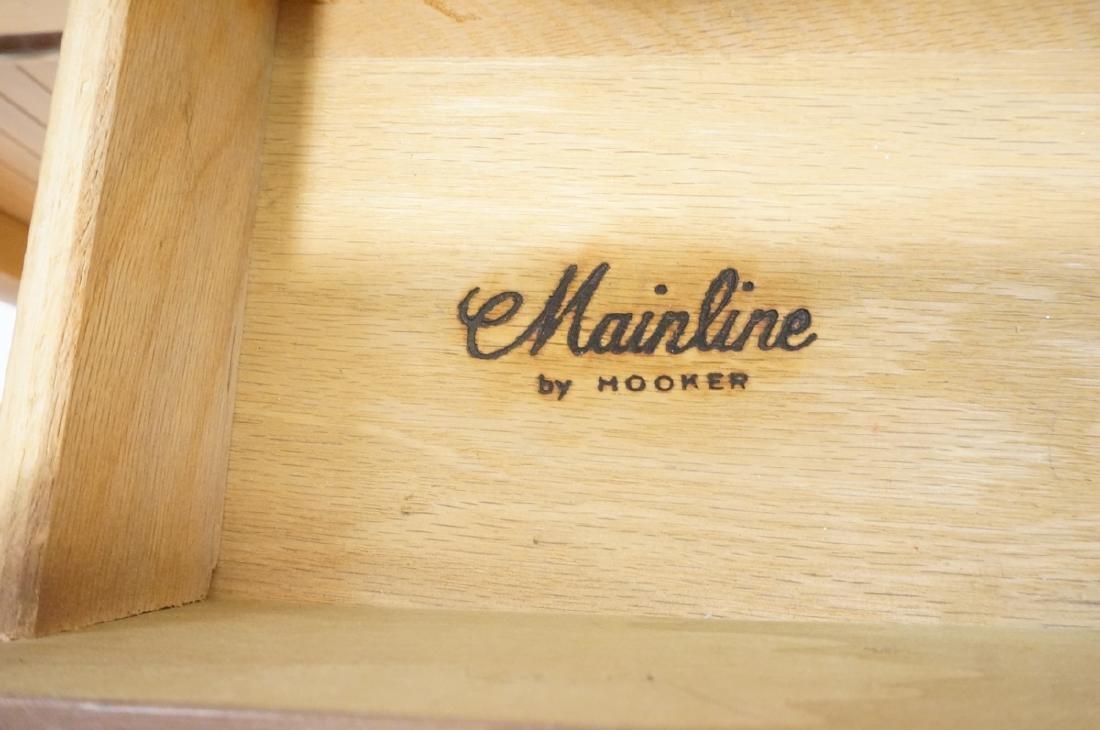 American Modern MAINLINE HOOKER Walnut Desk. Rece - 3