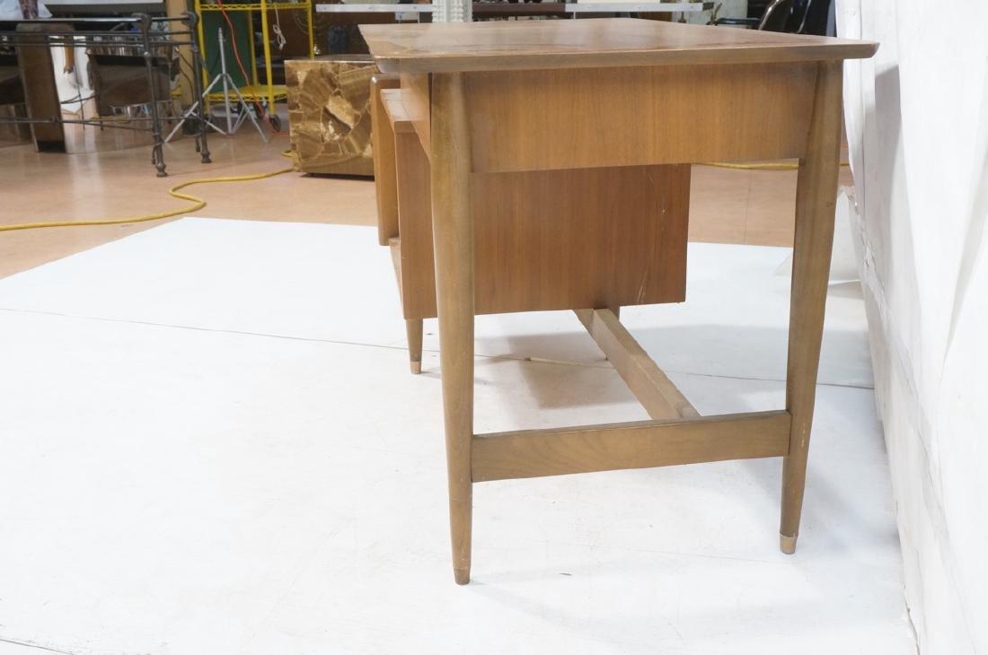 American Modern MAINLINE HOOKER Walnut Desk. Rece - 6