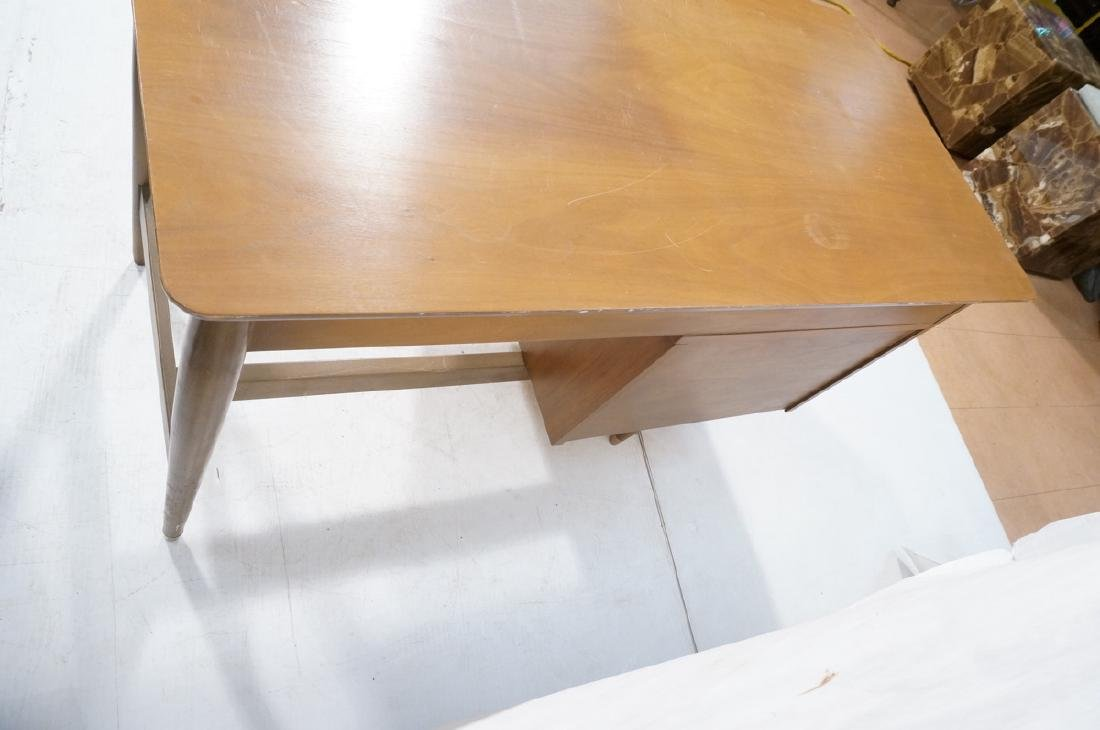 American Modern MAINLINE HOOKER Walnut Desk. Rece - 7