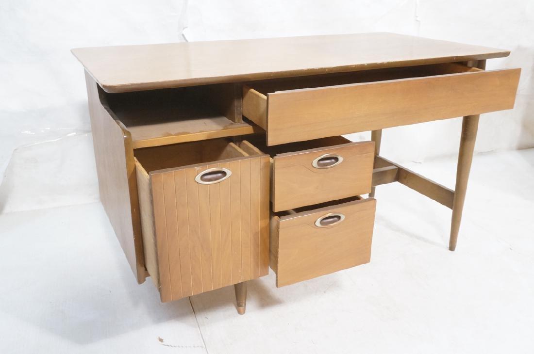 American Modern MAINLINE HOOKER Walnut Desk. Rece - 8