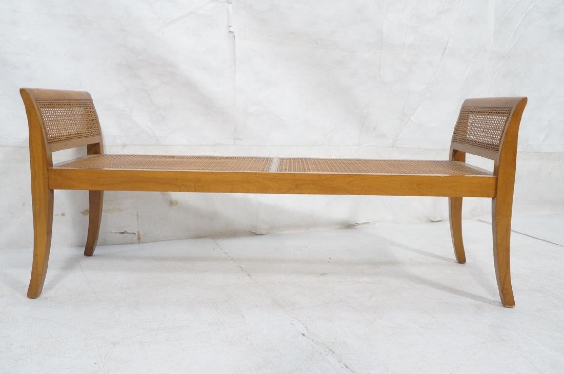 Modernist Caned Bench Seating.  Woven caned seat - 2