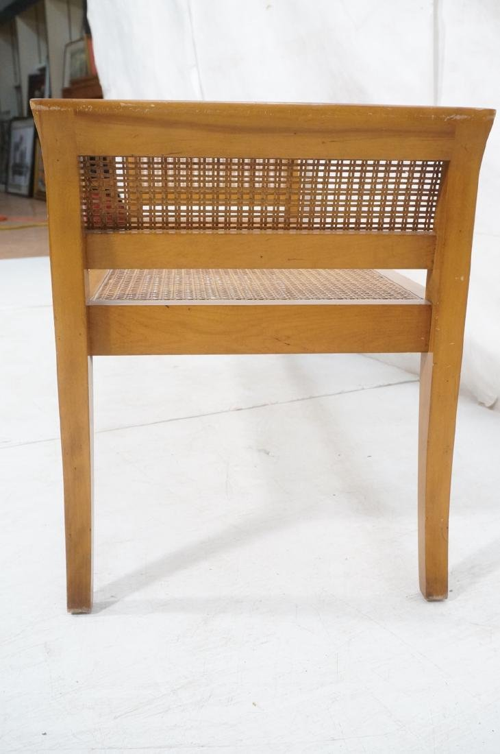 Modernist Caned Bench Seating.  Woven caned seat - 3