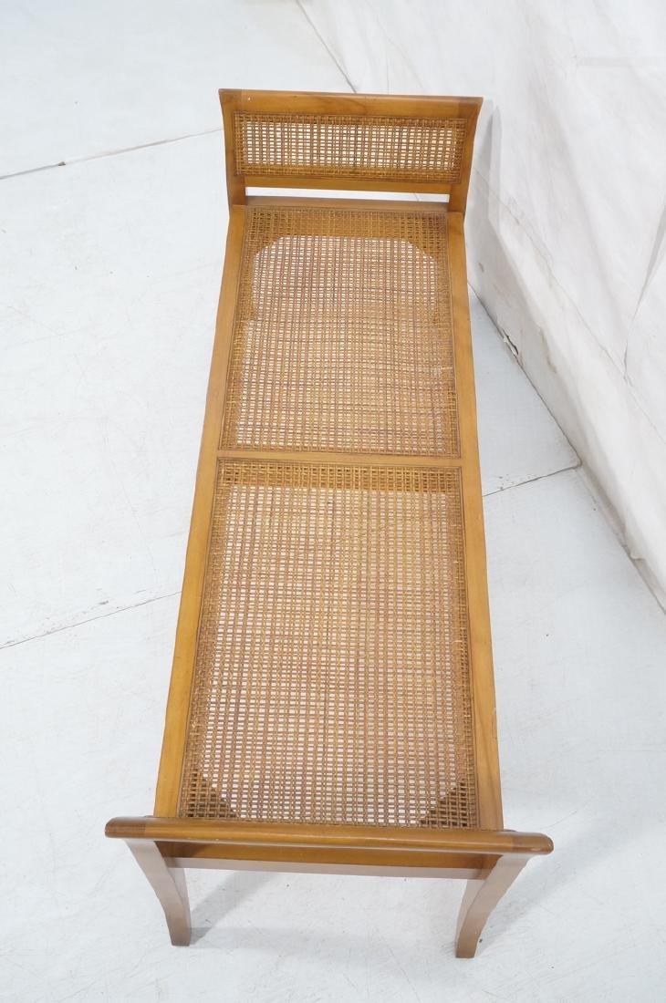 Modernist Caned Bench Seating.  Woven caned seat - 4