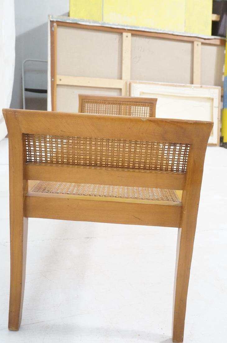 Modernist Caned Bench Seating.  Woven caned seat - 5