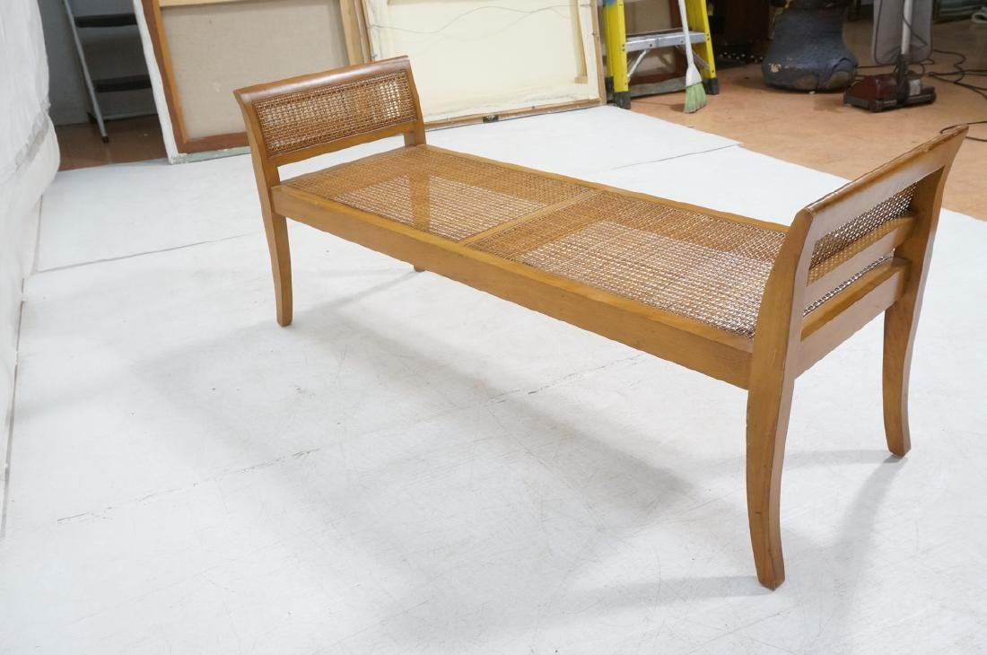 Modernist Caned Bench Seating.  Woven caned seat - 6