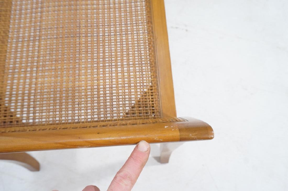 Modernist Caned Bench Seating.  Woven caned seat - 7
