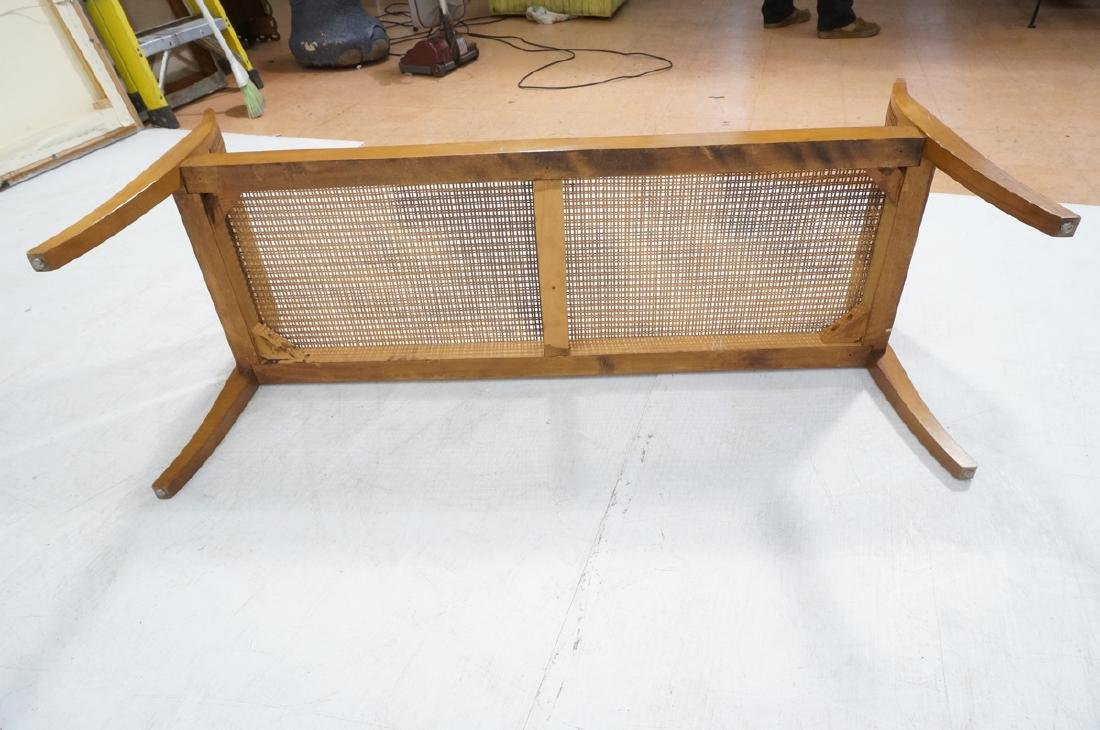 Modernist Caned Bench Seating.  Woven caned seat - 9