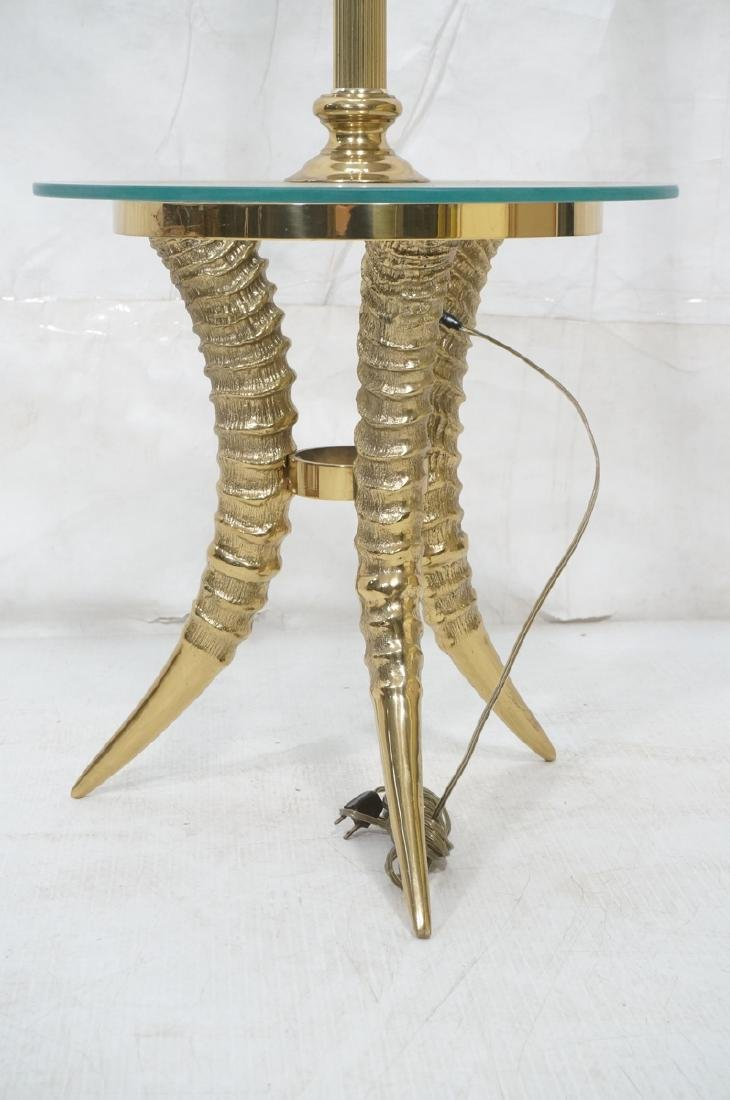 Decorator Brass Horn form Tripod Base Lamp Table.
