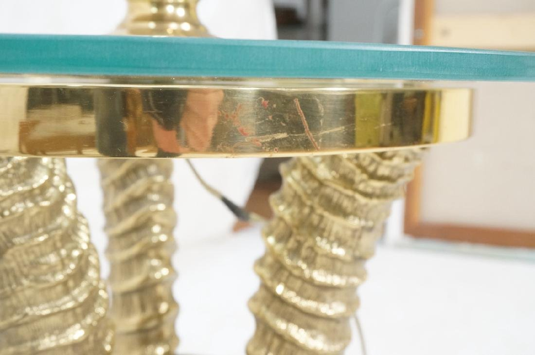 Decorator Brass Horn form Tripod Base Lamp Table. - 7