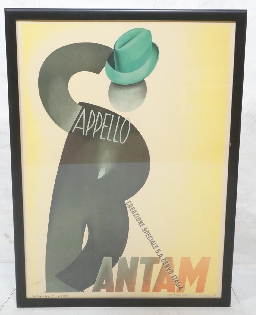 (Gino) BOCCASILE Italian Poster. Cappello Bantam.