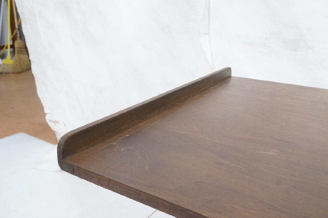 Walnut Top Industrial Metal Base Table. Adjustabl - 8