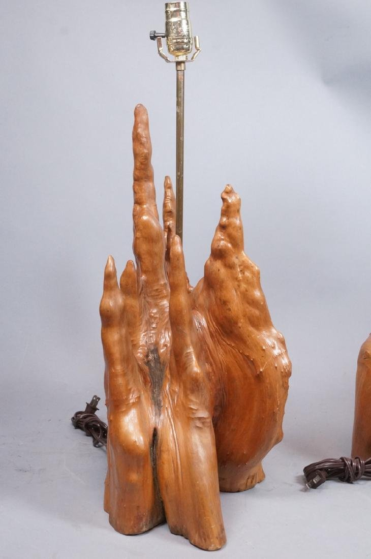 Pr Cypress Tree Root Form Table Lamps. Driftwood. - 7