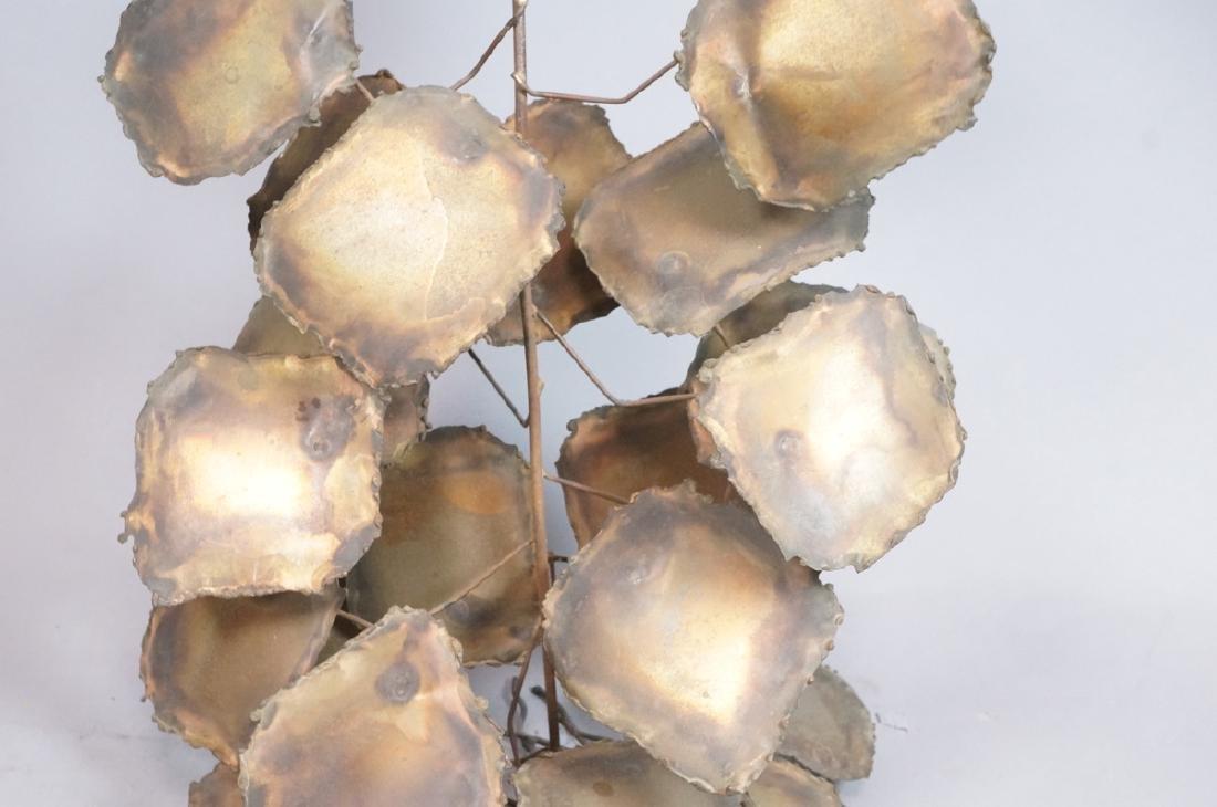 Lg Brutalist Metal Sunflower Sculpture. Torched. - 4