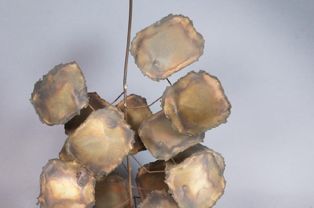 Lg Brutalist Metal Sunflower Sculpture. Torched. - 5