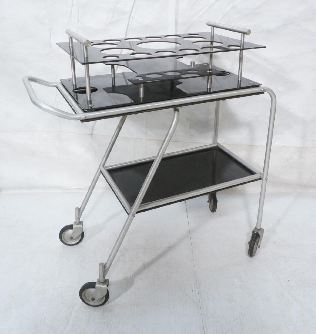 AERO-ART Prod. Retro Aluminum Rolling Bar Cart. A
