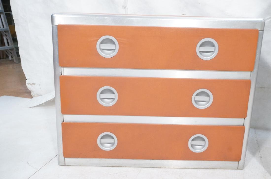 2pc Retro Dressers Chests of Drawers. Aluminum fr - 2