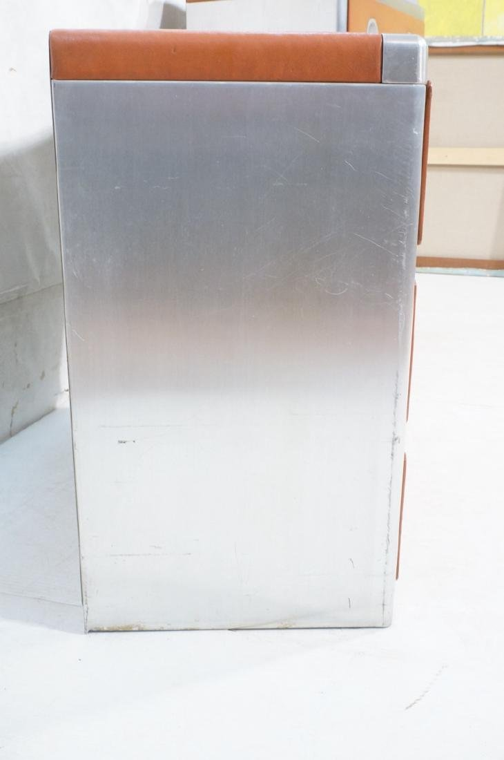 2pc Retro Dressers Chests of Drawers. Aluminum fr - 3