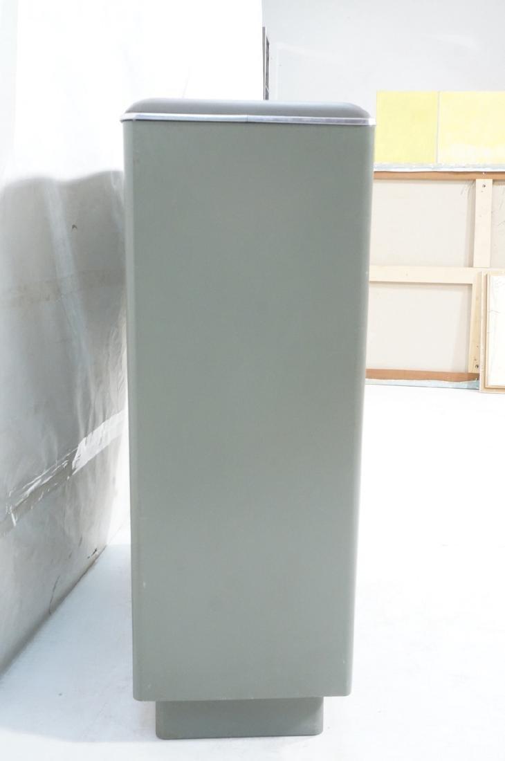 GLOBE WERNICKE Metal Case Glass Door Cabinet. Gra - 3