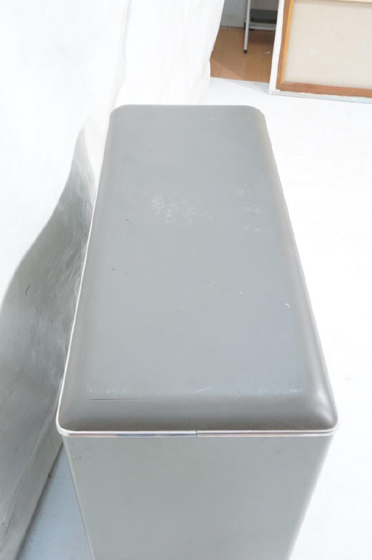 GLOBE WERNICKE Metal Case Glass Door Cabinet. Gra - 4