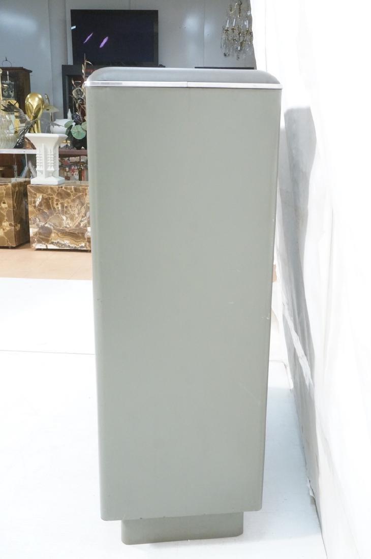 GLOBE WERNICKE Metal Case Glass Door Cabinet. Gra - 5