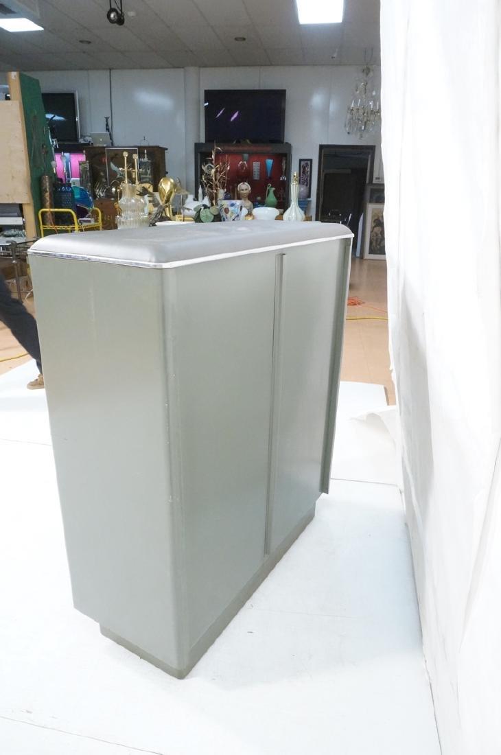 GLOBE WERNICKE Metal Case Glass Door Cabinet. Gra - 6