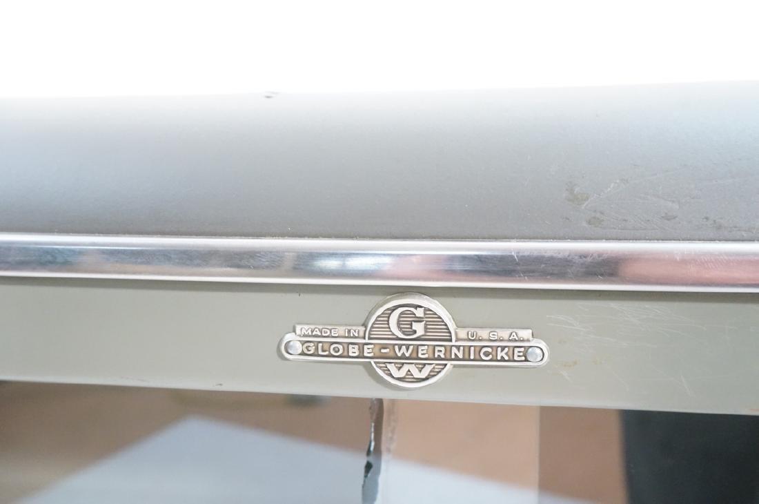 GLOBE WERNICKE Metal Case Glass Door Cabinet. Gra - 7