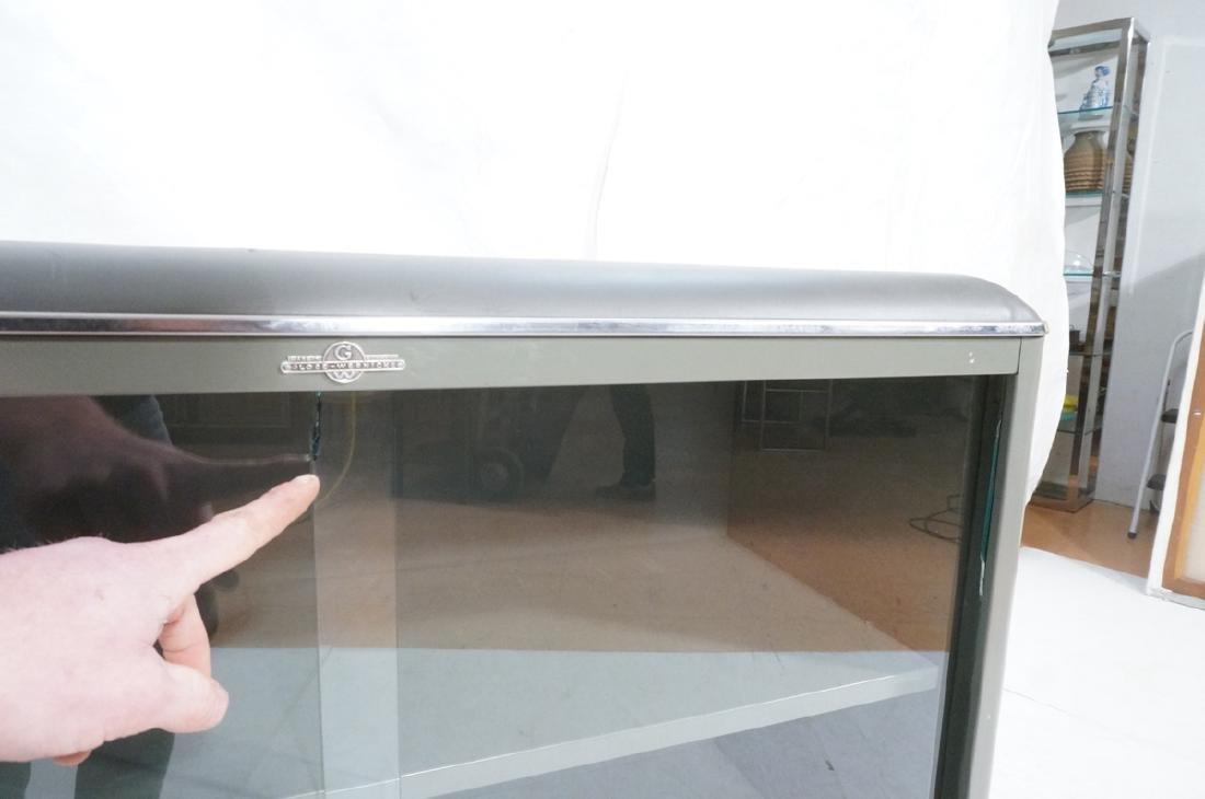 GLOBE WERNICKE Metal Case Glass Door Cabinet. Gra - 8