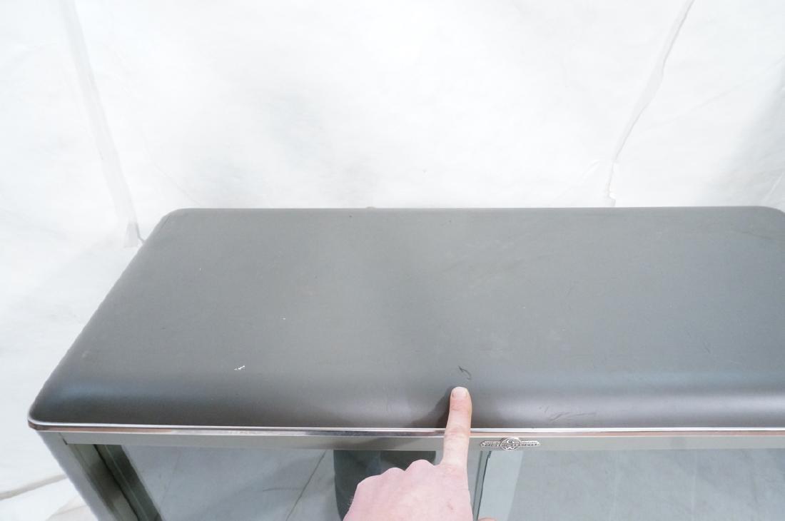 GLOBE WERNICKE Metal Case Glass Door Cabinet. Gra - 9