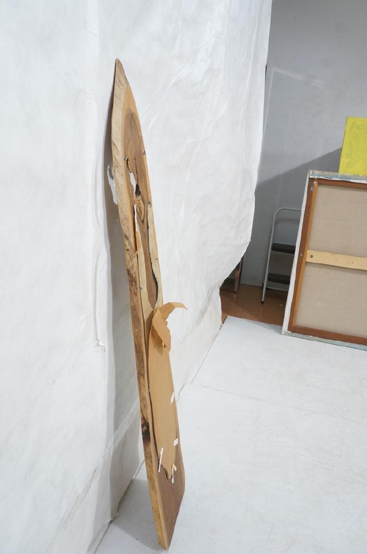 American Modern Walnut Freeform Frame Wall Mirror - 6