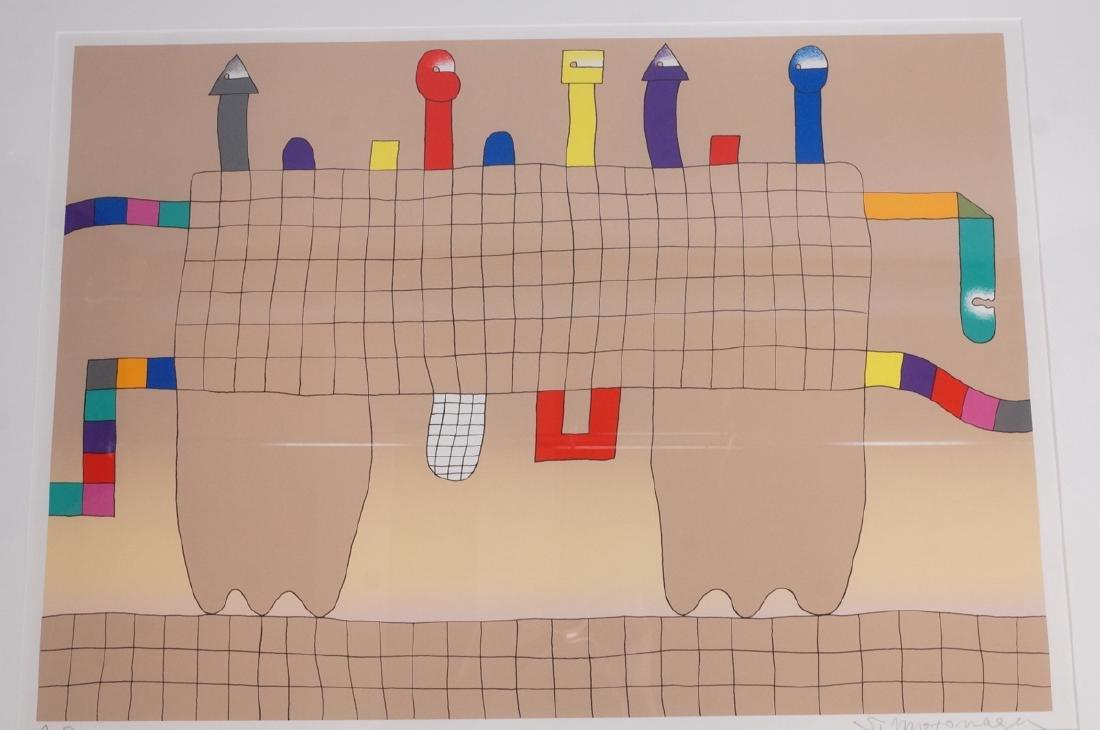 Signed Sadamasa Motonaga Figural Modern Art Print