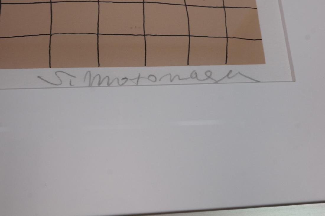 Signed Sadamasa Motonaga Figural Modern Art Print - 4