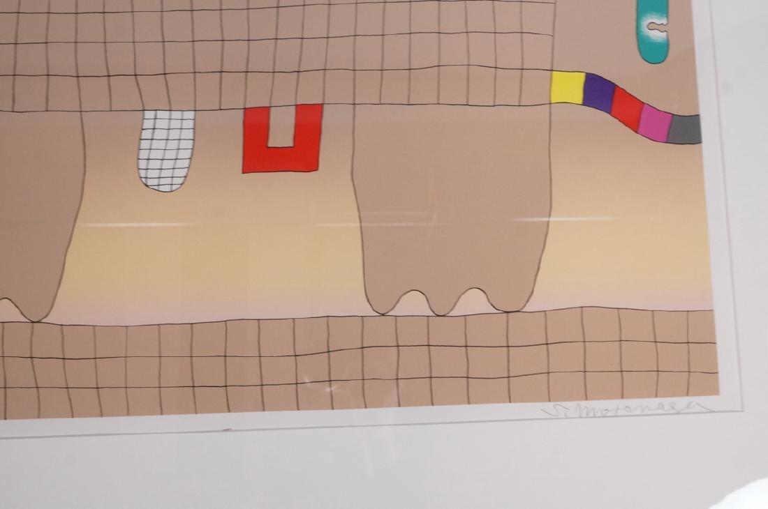 Signed Sadamasa Motonaga Figural Modern Art Print - 7