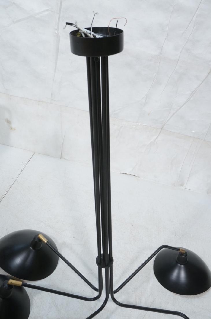 SERGE MOUILLE Style Hanging Chandelier. Modern mi - 4