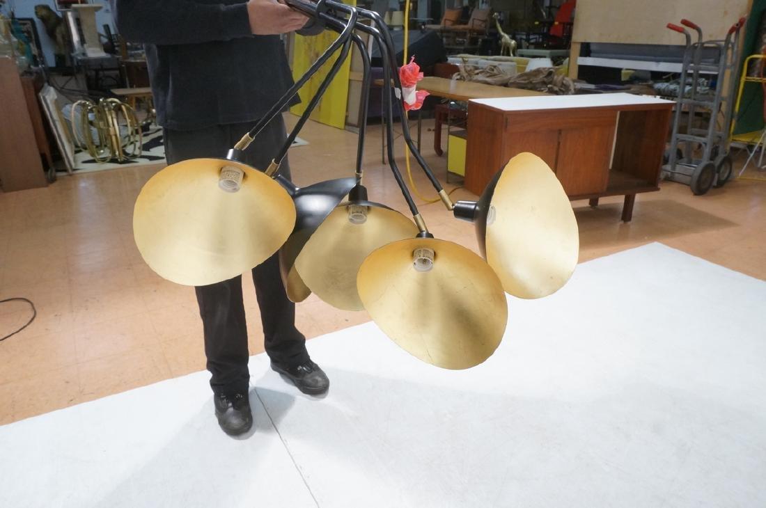SERGE MOUILLE Style Hanging Chandelier. Modern mi - 7