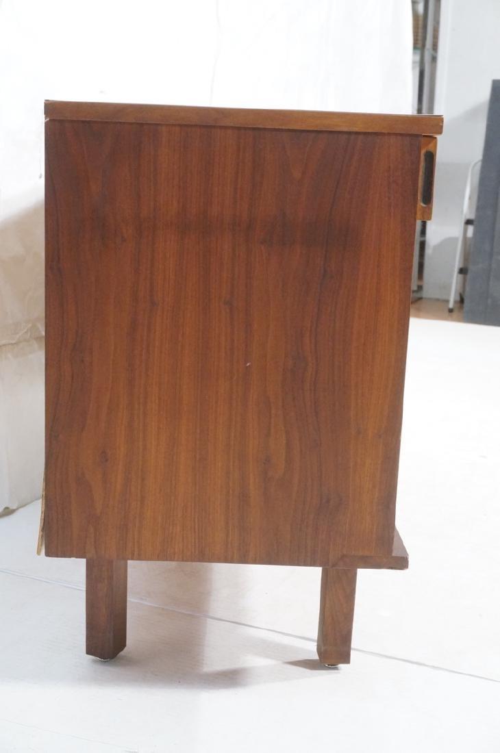 American Modern Walnut Server Cabinet. White lami - 3
