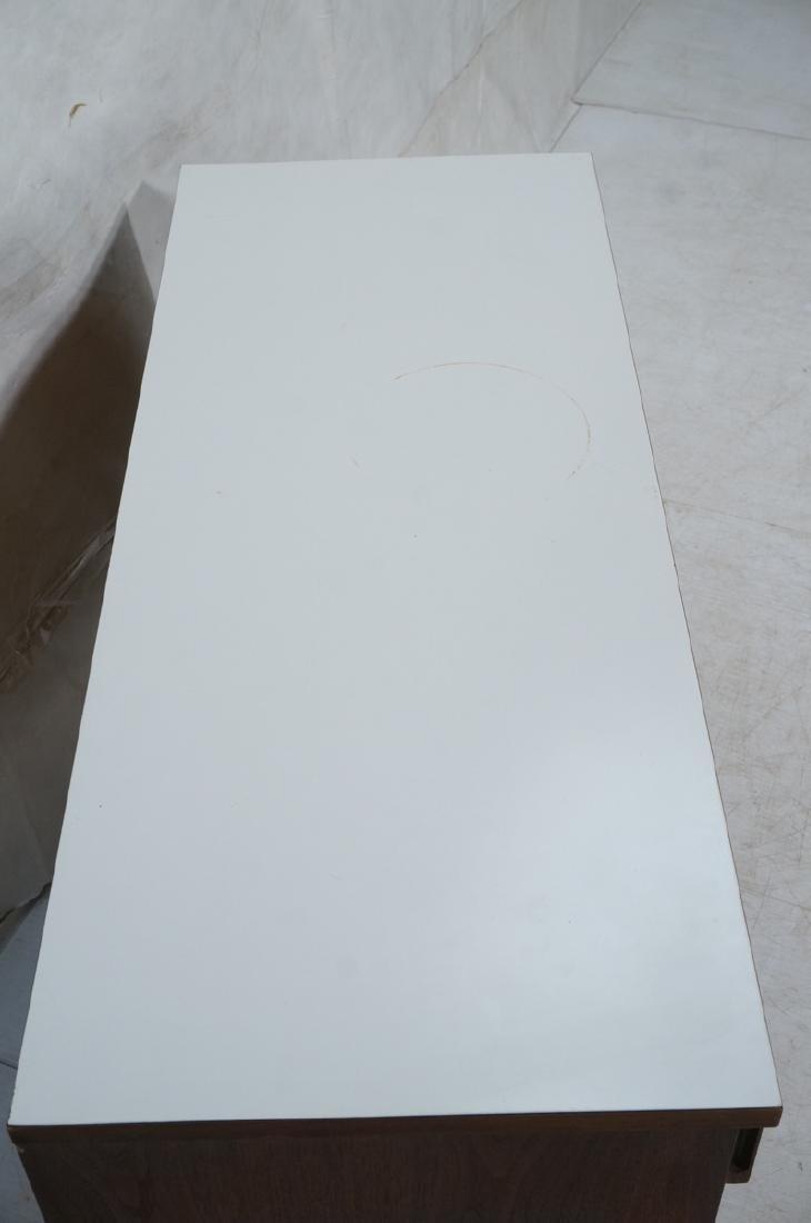 American Modern Walnut Server Cabinet. White lami - 4