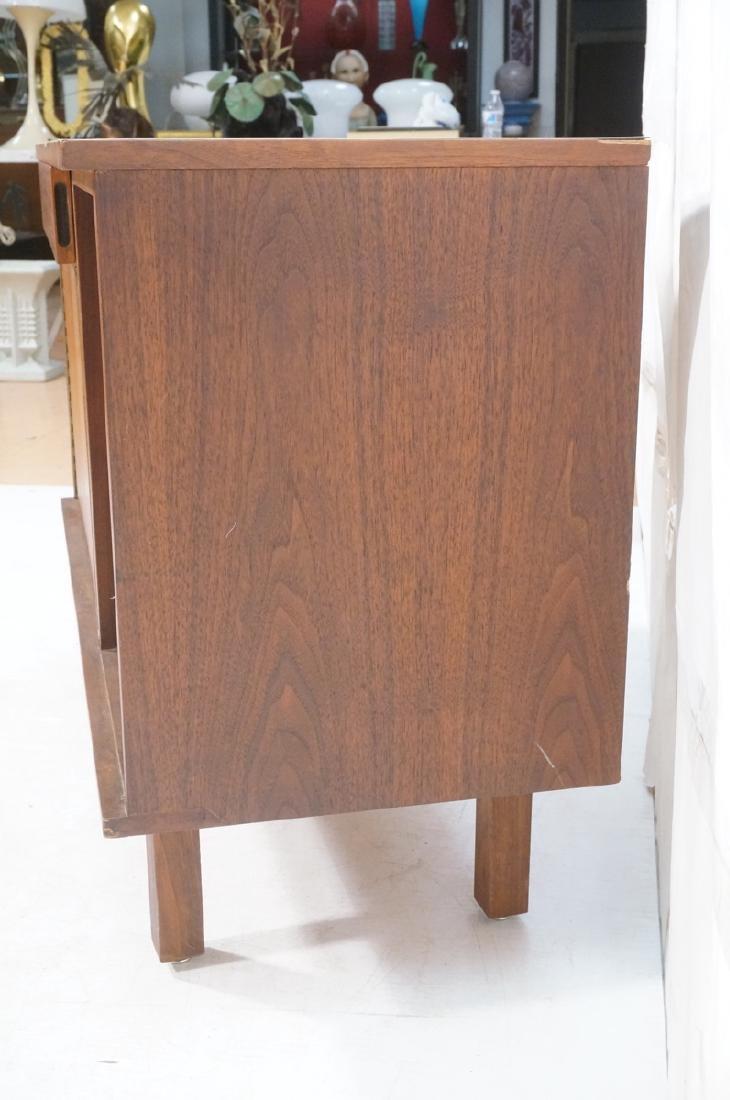 American Modern Walnut Server Cabinet. White lami - 5