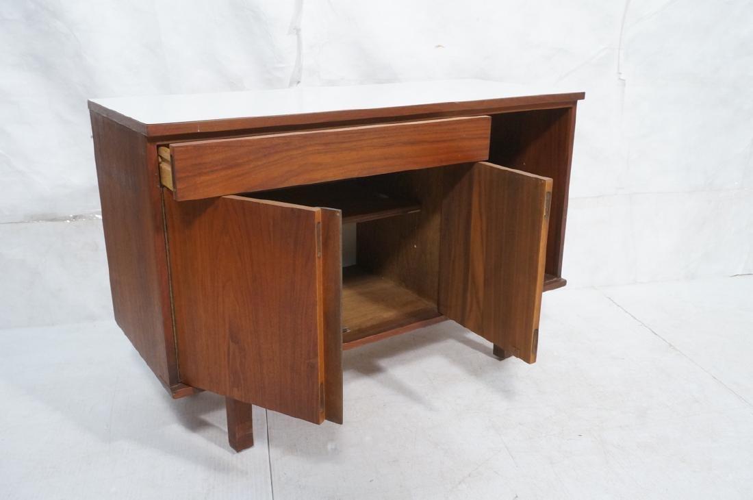 American Modern Walnut Server Cabinet. White lami - 6