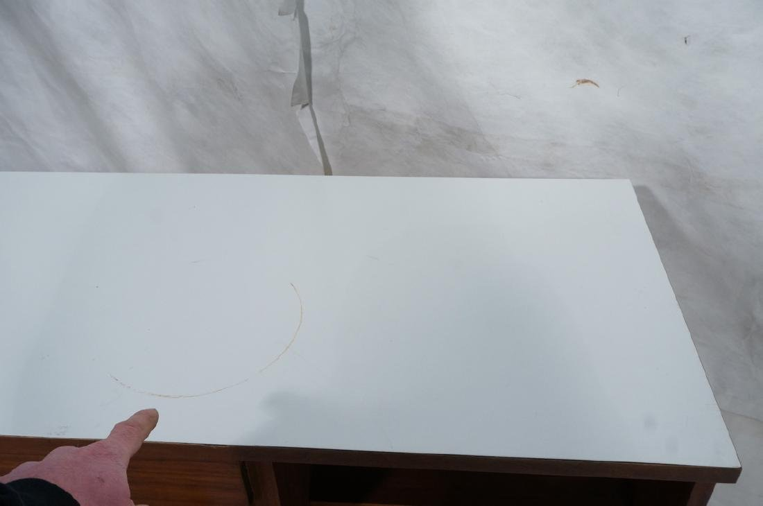 American Modern Walnut Server Cabinet. White lami - 7