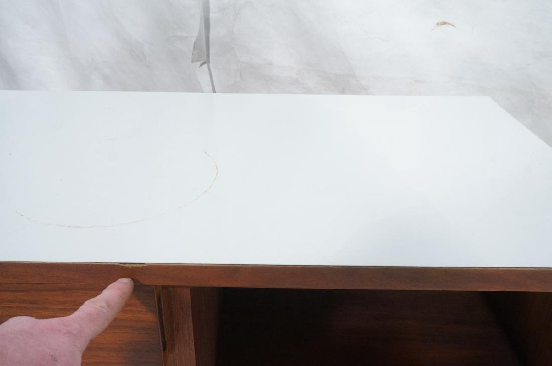 American Modern Walnut Server Cabinet. White lami - 8