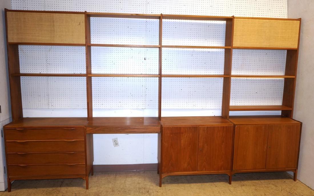 Danish Teak Modular Shelf Desk Unit. Bottom level