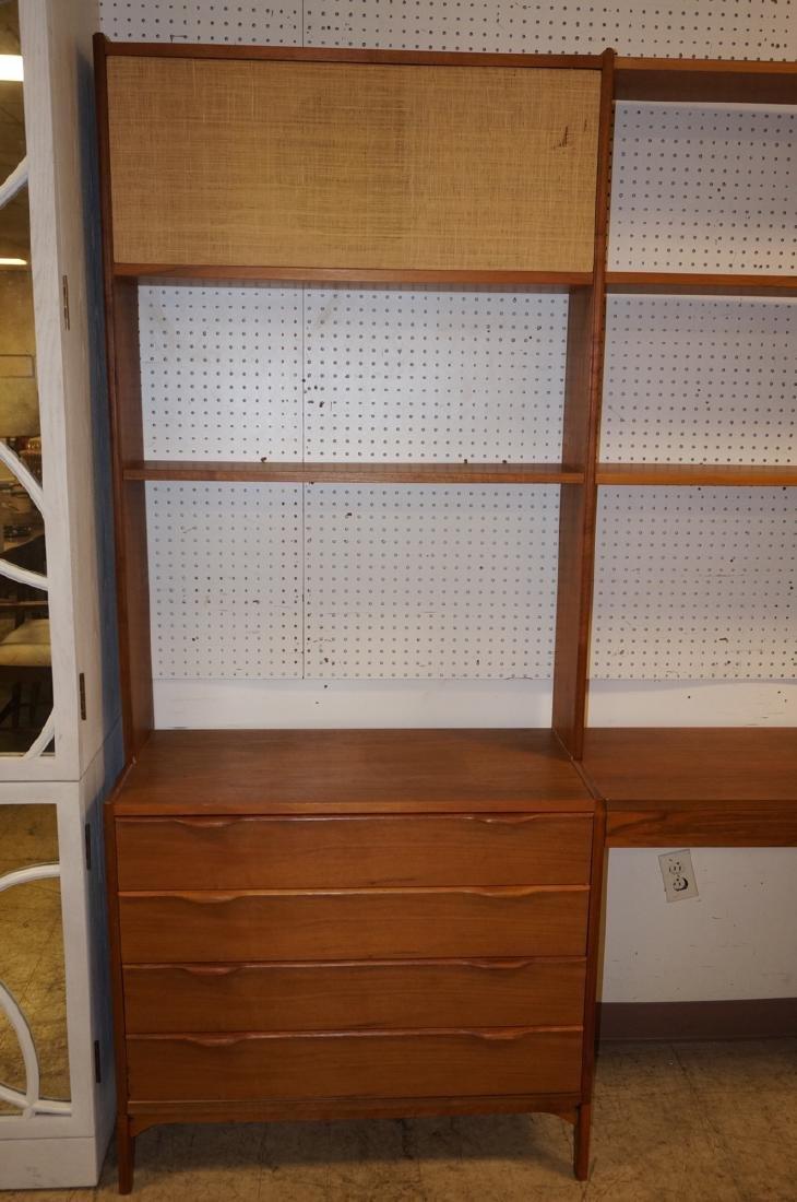 Danish Teak Modular Shelf Desk Unit. Bottom level - 2